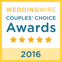 Weddingwire Couples Choice Award for 2018!